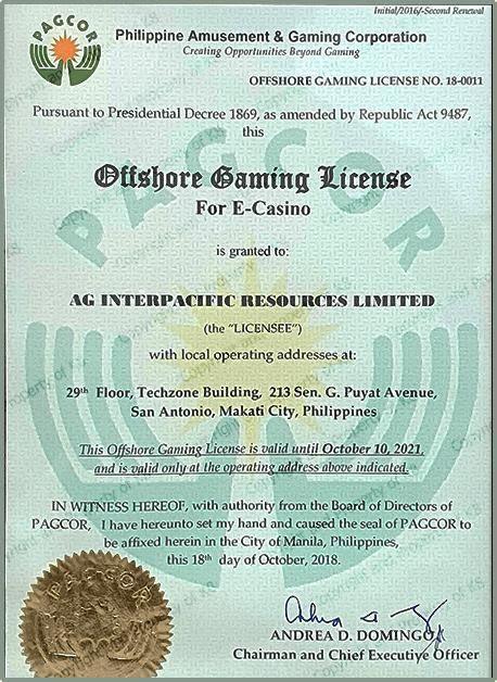 giấy phép hoạt đông hơp pháp