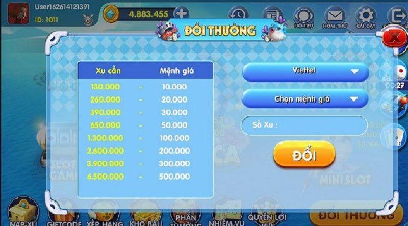 doi thuong ban ca 365 - Bắn cá 365 – game bắn cá đổi thẻ không giới hạn đang được yêu thích tại Việt Nam