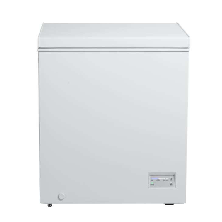 Omega 145L Chest Freezer with a white finish