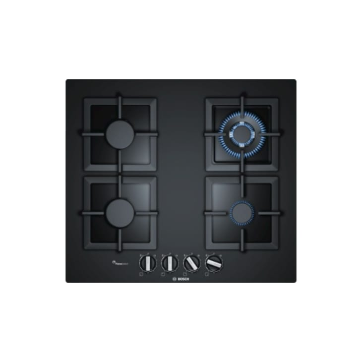 Bosch 60 cm Gas Cooktop, Tempered Glass, Black