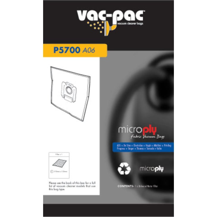 Vac-Pac A06 Microply Vacuum Cleaner Bags