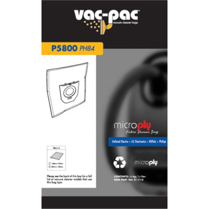 Vac-Pac PH84 Microply Vacuum Cleaner Bags