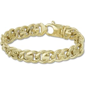 Jared Mens Round Link Chain Bracelet 10k Yellow Gold 9 Length