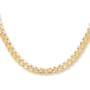 Jared Curb Chain Mens Necklace 10k Yellow Gold 22 Length Chains