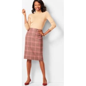 250bbc1e70 Talbots: Glen Plaid Pencil Skirt from Talbots.
