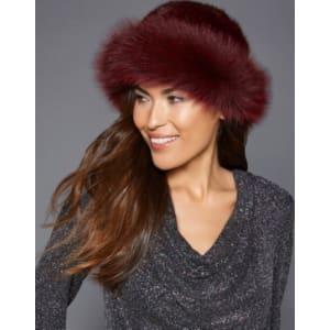 38f11aa6a42 The Fur Vault Fox-Trim Mink Fur Hat from Macy s.