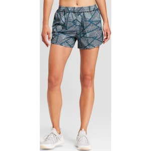 b24a16077fdf Women s Geometric Printed Run Shorts - C9 Champion Teal Geometric ...