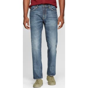 cae46eff Men's Straight Fit Jeans - Goodfellow & Co Medium Vintage Wash 29x30 ...