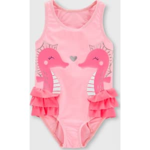 e18fdc531 Toddler Girls' Seahorse One Piece Swimsuit - Just One You made by ...