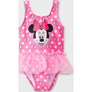 fc4d696e99cd Toddler Girls  Disney Mickey Mouse   Friends Minnie Mouse One Piece ...