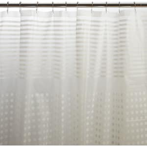 Frances Grid Shower Curtain With Roll Ball Hooks From Boscovs