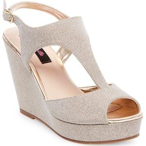 1f9b6e65bd5 Women s Betseyville Ryatt Glitter Mesh Platform Wedge Sandals - Soft ...