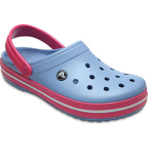 d95ae4905c48d1 Crocs Chambray Blue Paradise Pink Crocband(tm) Clog Shoes from Crocs.
