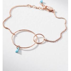 Anthropologie Hula Hoop Birthstone Bracelet