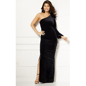 Eva Mendes Collection Oksana One Shoulder Maxi Dress From New York