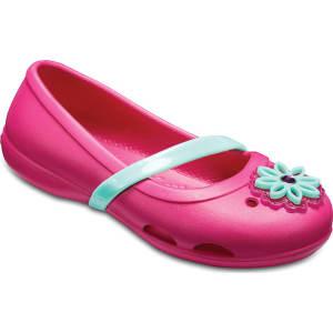 c7d61d467170f9 Crocs Candy Pink Kids  Crocs Lina Charm Flat Shoes from Crocs.