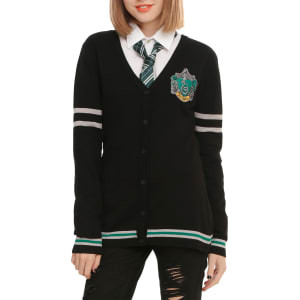 Harry Potter Slytherin Girls Cardigan From Hot Topic