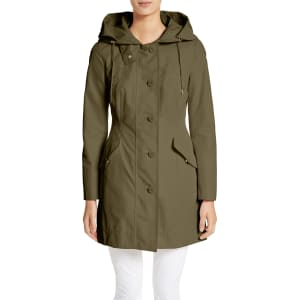 07bf83965 Women's Moncler Audrey Water Resistant Hooded Raincoat, Size 3 - Green