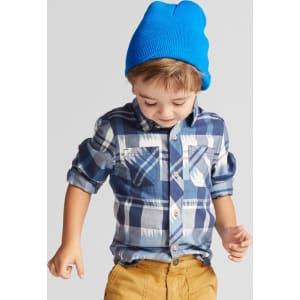 1dda0ac0 Toddler Boys' Genuine Kids From Oshkosh Long Sleeve Ikat Plaid ...
