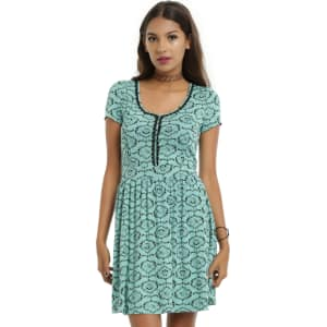Hot Topic Nightmare Before Christmas Dress.The Nightmare Before Christmas Mint Jack Zero Filigree Dress