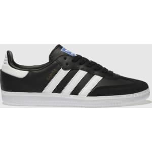 buy popular 9f82f 12e2a Adidas Black & White Samba Og Trainers Junior
