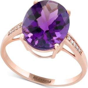 5c6745ad0df4d Effy Viola Amethyst (4-1/6 Ct. t.w.) and Diamond Accent Ring in 14k Rose  Gold
