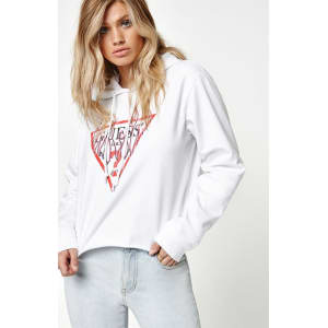 Guess X Pacsun Flames Cropped Hoodie - White from PacSun. a4e10e8f80