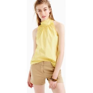 4b931e7107f Tall Tie-Neck Top in Oxford Cotton from J.Crew.