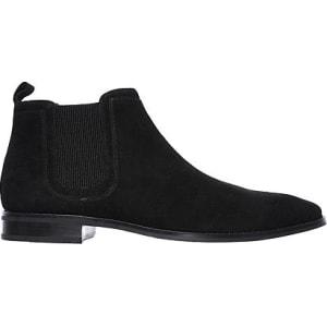 skechers mens black boots