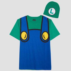 06c6fafd8 Men's Nintendo Super Mario Luigi With Hat Short Sleeve Graphic T ...