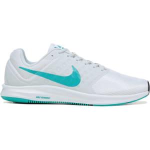 2e46edbf25eb4 Nike Women s Downshifter 7 Running Shoes (White   Jade) from Famous ...
