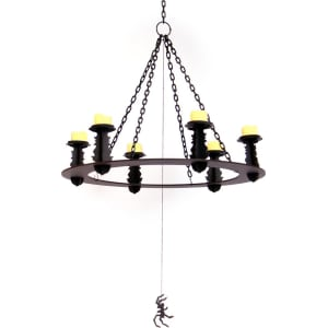 new arrival 44f45 8f70e Halloween Candle Chandelier - Hyde and Eek! Boutique, Black