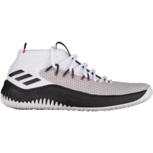 half off 63a88 433a2 Damian Lillard Adidas Dame 4 - Mens - WhiteBlackScarlet from