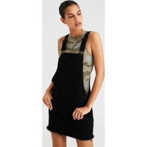 1d454d549e0 Ae Black Overall Skirt from American Eagle Outfitters.