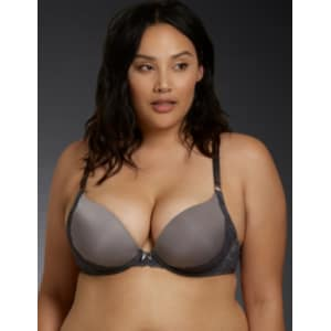 2b58ecb341 Smooth Push-Up Plunge Strappy Back Bra in Grey from Torrid.