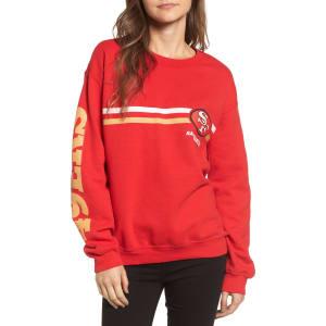 f1ab4b38 Women's Junk Food Retro Nfl Team Sweatshirt, Size X-Small - Red