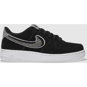 online store 8088a d0b9c Nike Black  White Air Force 1 Lv8 Trainers Youth from Schuh