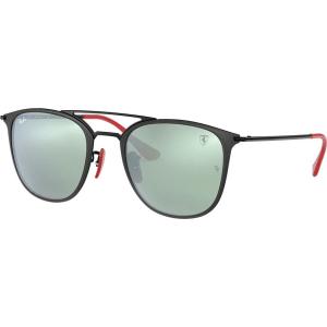 657c15f589 Ray-Ban Rb3601m 52 Ferrari Black Square Sunglasses from Sunglass Hut.