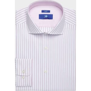d842a4b68a Egara Pink Stripe Slim Fit Dress Shirt from Men's Wearhouse.