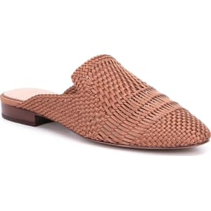 AD & Daughters Brookshire Satin and Leather Woven Dress Mules
