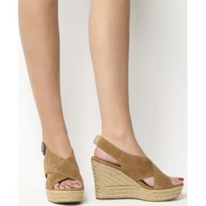 d6a31245aa63 Ugg Harlow Wedge Chestnut from Office.
