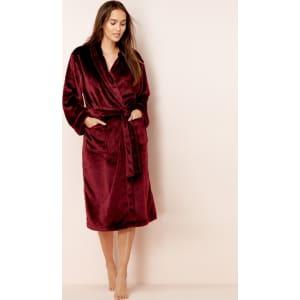4f76c4de6279 Lounge   Sleep - Maroon Fleece Dressing Gown from Debenhams.