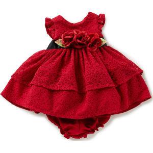 7c6b7c1d2882e Laura Ashley London Baby Girls Newborn-24 Months Christmas Lace Fit ...