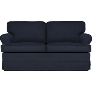 Superbe Everett Loveseat Midnight Blue   Sofas 2 Go