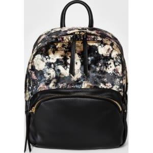 Women's Velvet Floral Mini Backpack - Mossimo Supply Co  Black