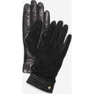 b6347ca58ed Cole Haan Womens Braided Cuff Suede Gloves from Cole Haan.