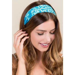 Half Boho Bandeau by Natural Life in Aqua Paisley - Turquoise from ... 348b384bb3f