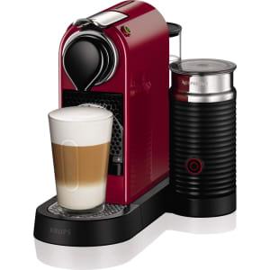 Nespresso Citiz Milk Coffee Machine By Krups With Milk Frother Cherry Red