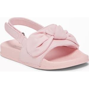 f234d43fcff Old Navy Baby Vinyl Bow-Tie Slide Sandals For Toddler Girls Pink ...
