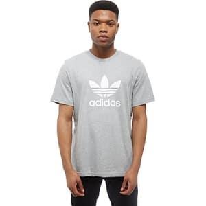8901dd4524f4 Adidas Originals Trefoil State T-Shirt - Grey White - Mens from JD  Crosstown Running.